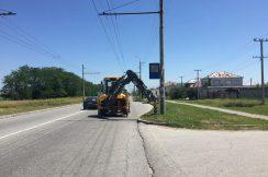 Проводятся работы по замене и установке недостающих дорожных знаков