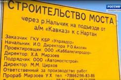 Продолжается строительство моста через реку Нальчик на подъезде от а/м «Кавказ» к с. Нартан
